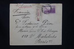 ARGENTINE - Enveloppe En Recommandé De Buenos Aires Pour La France En 1938 Par Le S/S Augustus  - L 108027 - Covers & Documents