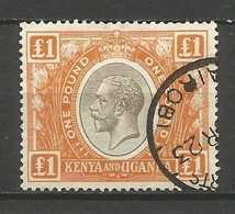 KENIA YVERT NUM. 18 USADO - Kenya & Uganda
