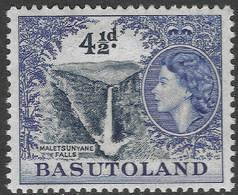 Basutoland. 1954-58 QEII. 4½d MH SG47 - 1933-1964 Crown Colony