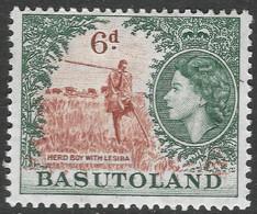 Basutoland. 1954-58 QEII. 6d MH SG48 - 1933-1964 Crown Colony