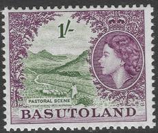 Basutoland. 1954-58 QEII. 1/- MH SG49 - 1933-1964 Crown Colony