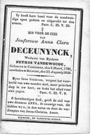 Deceunynck A.c. (caeskerke 1786 -diksmuide 1848) - Religion & Esotérisme