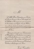 1V9 Sv  Invitation à L'inauguration Bénédiction De L'église Sainte Hélene 102 Rue Du Ruisseau Paris En 1934 (rare) - Birth & Baptism