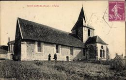 CPA Saint Marcel Eure, Église - Other Municipalities