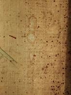 Plan Filature Chézelles 1877 Fismes Maillard Et Fayet Baron Feton Géomètre Papier Hallines Ville Dambricourt 1868 - Architectuur