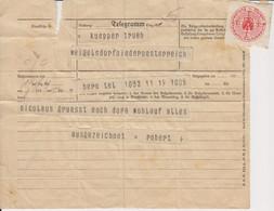 AD401 - Telegramm Von Bern/Schweiz Nach Österreich, Österr. Bundestelegraphenverwaltung, 30er-Jahre - Birth & Baptism