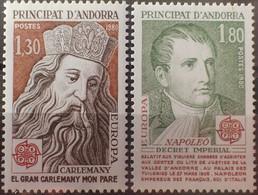 3102 - 1980 - ANDORRE FR. - EUROPA - N°284 à 285 NEUFS** - Ungebraucht