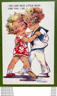 AGNÈS RICHARDSON - Illustrateur - Couple D'Enfants - I DO LIKE NICE LITTLE BOYS LIKE YOU. I DO - Humorkaarten