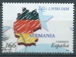 ESPAGNE SPANIEN SPAIN ESPAÑA 1999 DEUSTSCHLAND GERMAY FLAG ALEMANIA  USED ED 3633 YT 3201 MI 3467 SG 3567 SC 2995B - 1991-00 Usati