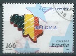 ESPAGNE SPANIEN SPAIN ESPAÑA 1999 BELGIQUE BELGIUM FLAG BÉLGICA USED  ED 3635 YT 3203 MI 3469 SG 3569 SC 2995D - 1991-00 Usati