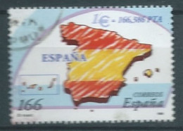 ESPAGNE SPANIEN SPAIN ESPAÑA 1999 FLAG OF SPAIN BANDERA ESPAÑA USED  ED 3636 YT 3204 MI 3470 SG 3570 SC 2995E - 1991-00 Usati