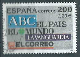 ESPAGNE ESPAÑA SPAIN ESPAÑA 2000 FROM M/S PRESS: PRESS PRENSA 200 PTAS USED ED 3766 YT 3333 MI 3599 SG 3701K SC 3068 - 1991-00 Usati
