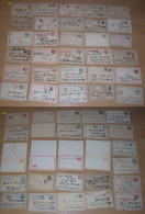 Japan 1890-1930 Collection Of 55 Postal Stationery Used + Mint - Unclassified