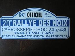 D 42 - Plaque - 20e  RALLYE  Des NOIX - 1997 - LE SOLEIL SAINT ETIENNE - ASA ONDAINE - Targhe Rallye