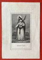 Anno 1851 - Doodsprentje Décés - GRAVURE - D'HONDT DE NYS Timmerman Bruges Brugge - 10 Cm X 7 Cm - Devotion Images