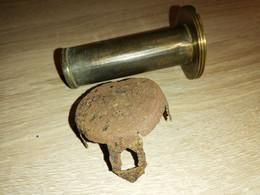 Pièces Détachées  De Projectile Anglais De Tranchée De 2 Inch Toffee Apple. WW1. 14-18. Obus. Grenade. Fusée. - Decorative Weapons