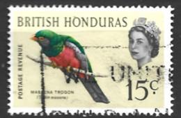 Br  Honduras   1962  SG  208  15c  Slaty-tailed Trogom Fine Used - British Honduras (...-1970)