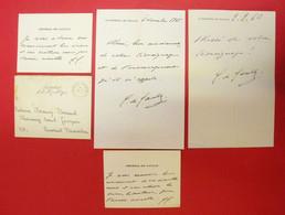 Président De La République Général De Gaulle Enveloppe Carte & Lettres Avec Signature LAS Bel Ensemble Dos Scanné - Autographs