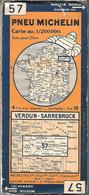 CARTE-ROUTIERE-MICHELIN-N °57-1935-N°3529-104-VERDUN-SARREBRUCK-BE-Petites Coupures A Quelques Plis - Carte Stradali