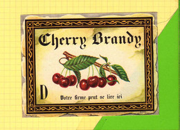 Etiquette CHERRY BRANDY  632  Cerises - Fruits & Vegetables