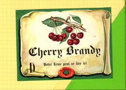 Etiquette CHERRY BRANDY   Cerises - Fruits & Vegetables