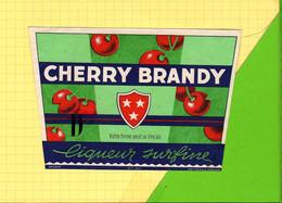 Etiquette CHERRY BRANDY  Liqueur Superfine  420  Cerises - Fruits & Vegetables
