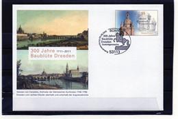 BRD, 2011, GS-Brief, Michel 2491, Erstverwendung, 300 Jahre Baublüte Dresden - Umschläge - Gebraucht