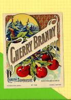 Chromos Etiquette CHERRY BRANDY 158   Cerises - Fruits & Vegetables