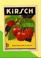 Chromos Etiquette  KIRSCH   Cerises - Fruits & Vegetables