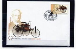 BRD, 2011, GS-Brief, Michel 2867, Erstverwendung, Benz-Patent-Motorwagen - Sobres - Usados
