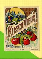 Chromos Etiquette  KIRSCH VIEUX   Cerises - Fruits & Vegetables