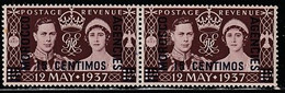 MAROC BUREAUX ANGLAIS 308 // YVERT 70X2 (NEUF-SE TENANT) // 1937 - Morocco Agencies / Tangier (...-1958)