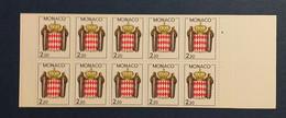 Monaco, Carnet De 10 Timbres Neufs, 1987 - Neufs