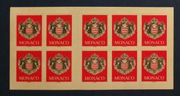 Monaco, Carnet De 10 Timbres Neufs, 2000 - Neufs