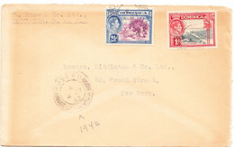 DOMINICA  Cover  - Postmarked Roseau, 4 July 1942  The 3½d Rate To USA - Dominica (...-1978)