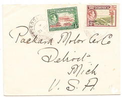 DOMINICA  Cover  - Postmarked Roseau, 21 Sept. 1944  The 3½d Rate To USA - Dominica (...-1978)