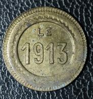 """Jeton De Nécessité Paris - Jeu De Comptoir De Bistrot Parisien """"10c à Consommer / Le 1913"""" - Noodgeld"""