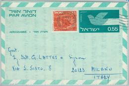 74984 - ISRAEL - POSTAL HISTORY - Stationery AEROGRAMME To ITALY 1964 - Birds - Covers & Documents