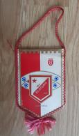Vintage Pennant Football Soccer Club FK Vojvodina Novi Sad Serbia Ex Yugoslavia  80x140mm - Abbigliamento, Souvenirs & Varie