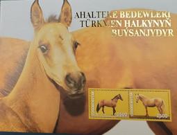 SL) TURKMENISTAN, HORSES, SOUVENIR SHEET, MNH. - Turkmenistan