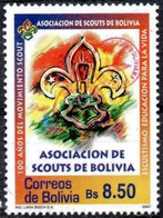 Bolivia 2018 **  CEFIBOL 2333 (2007 #1948) .Bolivian Scout Association, Authorized By The Bolivian Post Office. - Bolivia