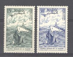 Maroc  -  Avion  :  Yv   98-99  ** - Airmail