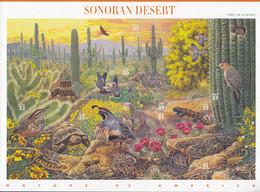 USA  3100-3109, Folienbogen, Postfrisch **, Amerikanische Naturlandschaften (I): Sonorawüste, 1999 - Blocks & Sheetlets