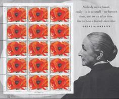 USA  2727, Bogen (3x5), Postfrisch **, Georgia O'Keeffe, 1996 - Blocks & Sheetlets