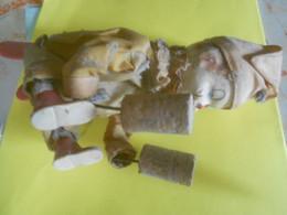 Vieux   Jouet   Pantin Articuler   A Ressort/ Tete Ceramique - Giocattoli Antichi