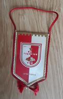 Vintage Pennant Football Soccer Club FK  Radnicki Nis Serbia Ex Yugoslavia  80x140mm - Abbigliamento, Souvenirs & Varie