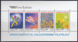 """ITALIEN  Block 19, Postfrisch **, Kampagne """"Die Briefmarke – Meine Freundin"""" Zur Förderung Der Philatelie, 1999 - Blocchi & Foglietti"""