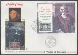 ITALIEN  Block 9-14, 6 FDC, 500 Jahre Entdeckung Amerikas, 1992 - Blocchi & Foglietti