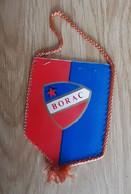 Vintage Pennant Football Soccer Club FK Borac Banja Luka Bosnia Ex Yugoslavia  85x120mm - Abbigliamento, Souvenirs & Varie