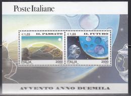 ITALIEN  Block 20, Postfrisch **, Eintritt In Das Jahr 2000 (II): Vergangenheit Und Zukunft, 2000 - Blocchi & Foglietti